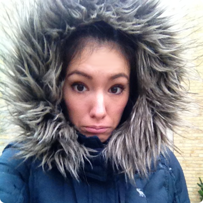 Me, looking like a ridiculous Abercrombie eskimo
