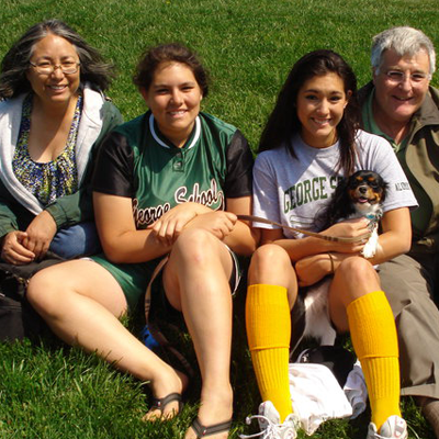 The fam after El & I's alumni softball game in 2010