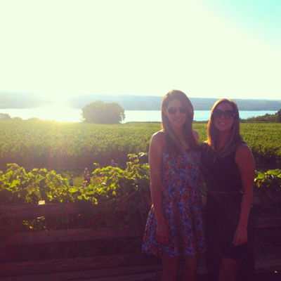 My friend Kristin & I last summer at the vineyard we're getting married at!