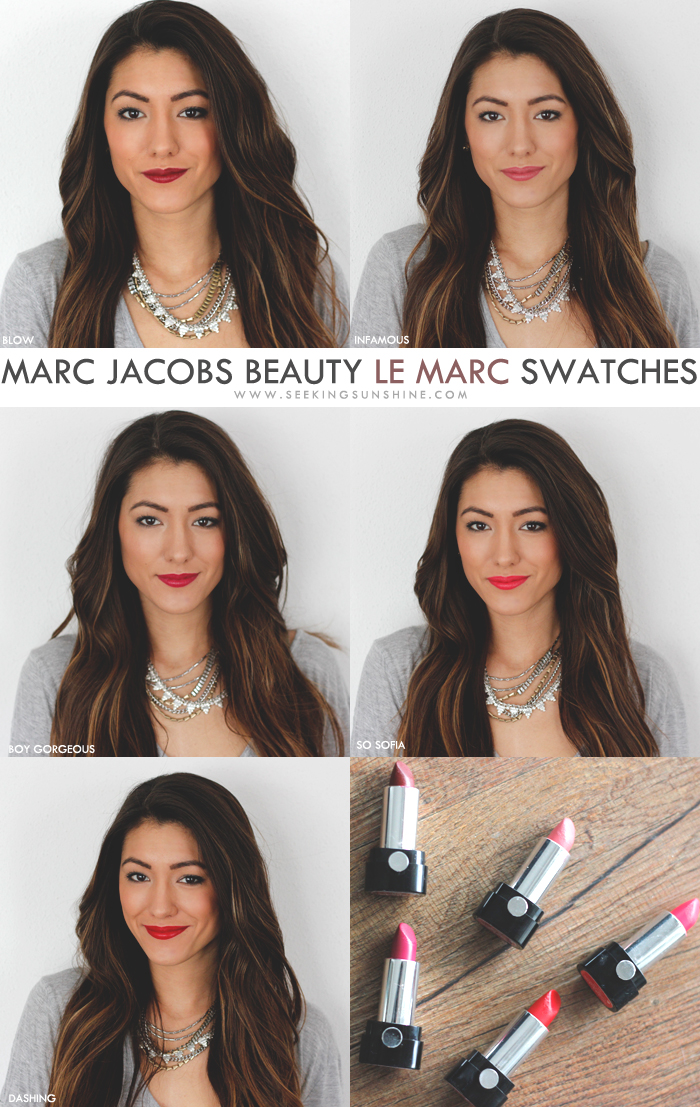 Marc Jacobs Beauty Le Marc Swatches