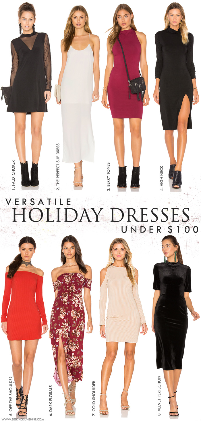under $100 holiday dress guide
