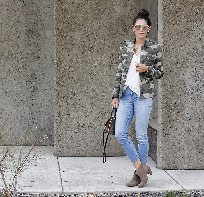 Camo Jacket via Seeking Sunshine