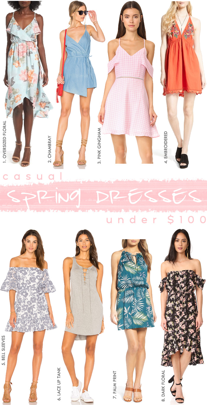 Casual Spring Dresses Under $100 via Seeking Sunshine