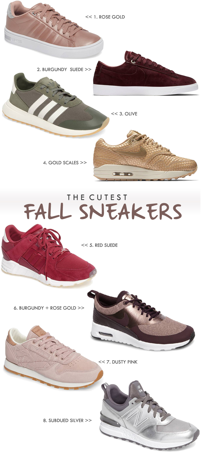 We show you the best shoes and sneakers to wear with Fall Peach athleisure apparel. These stylish, comfortable shoes will work with your whole closet.